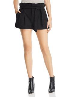 AQUA Paperbag-Waist Faux Suede Shorts - 100% Exclusive