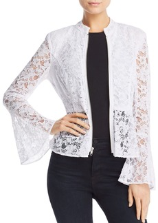 AQUA Peplum Lace Jacket - 100% Exclusive