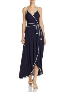 AQUA Piped Faux-Wrap Maxi Dress - 100% Exclusive