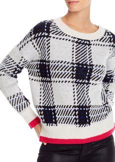 AQUA Plaid Crewneck Sweater - 100% Exclusive