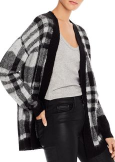 AQUA Plaid Open Cardigan Sweater - 100% Exclusive