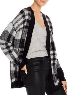 AQUA Plaid Open Cardigan Sweater - 100% Exclusive