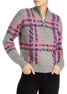 AQUA Plaid Quarter-Zip Sweater - 100% Exclusive
