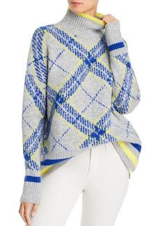 AQUA Plaid Turtleneck Sweater - 100% Exclusive