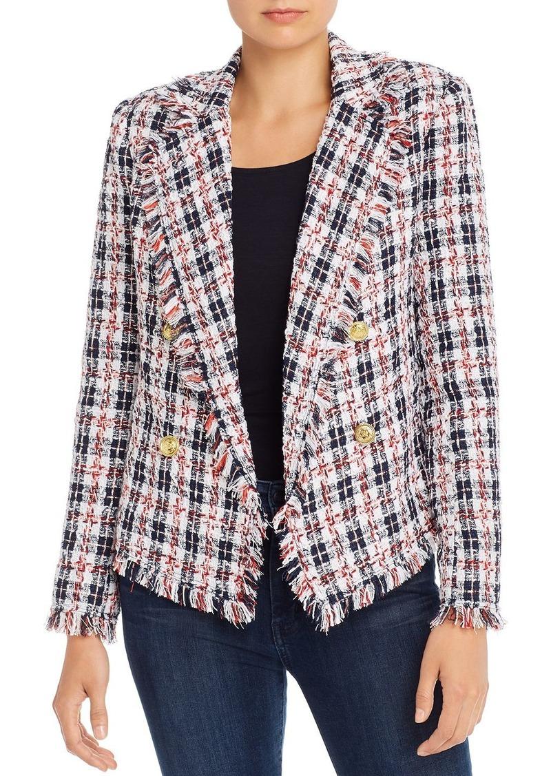 AQUA Plaid Tweed Open-Front Blazer - 100% Exclusive