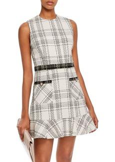 AQUA Plaid Tweed Dress - 100% Exclusive