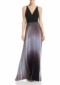 AQUA Pleated Shimmer Gown - 100% Exclusive