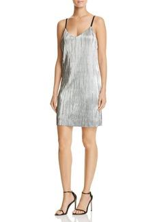 AQUA Pleated Slip Dress