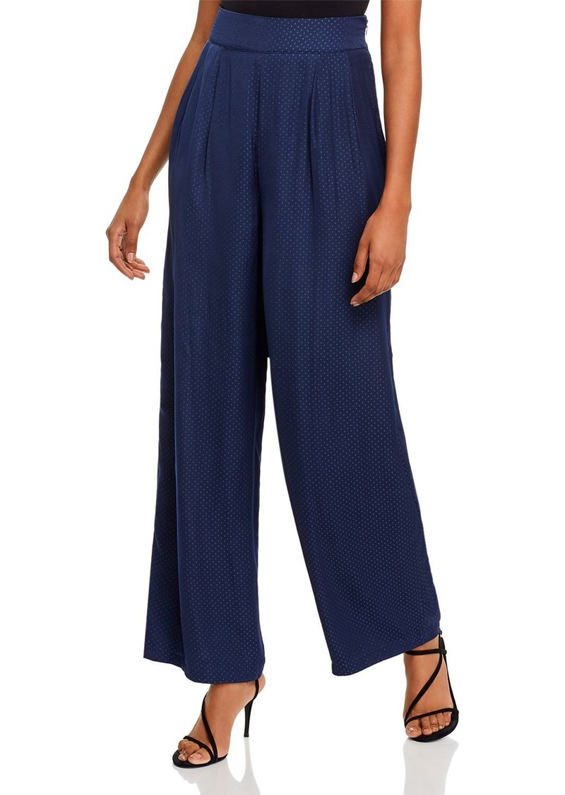 AQUA Pleated Wide-Leg Pants - 100% Exclusive