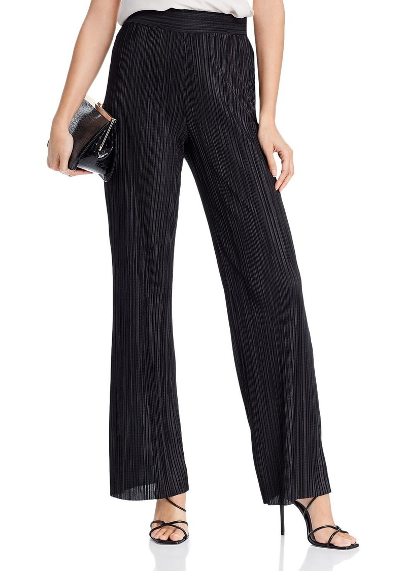 AQUA Pliss� Wide-Leg Pants - 100% Exclusive