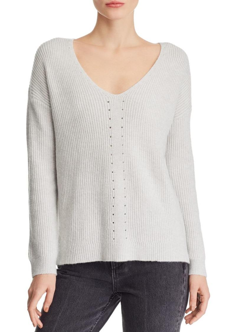 AQUA Pointelle Detail Sweater - 100% Exclusive
