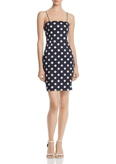 AQUA Polka Dot Body-Con Dress - 100% Exclusive