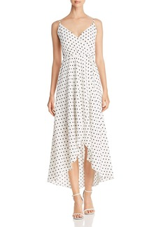 AQUA Polka Dot Faux-Wrap Maxi Dress - 100% Exclusive