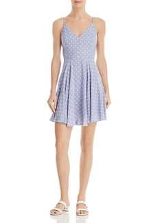 AQUA Polka-Dot Fit-and-Flare Dress - 100% Exclusive