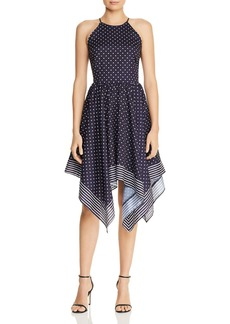 AQUA Polka Dot Handkerchief-Hem Dress - 100% Exclusive
