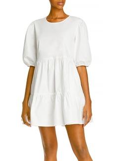 AQUA Poplin Mini Dress - 100% Exclusive