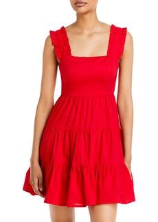 AQUA Poplin Tiered Mini Dress - 100% Exclusive