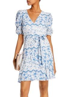AQUA Printed Puff-Sleeve Dress - 100% Exclusive