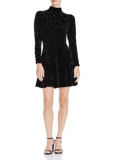 Aqua Printed Velvet Dress - 100% Exclusive