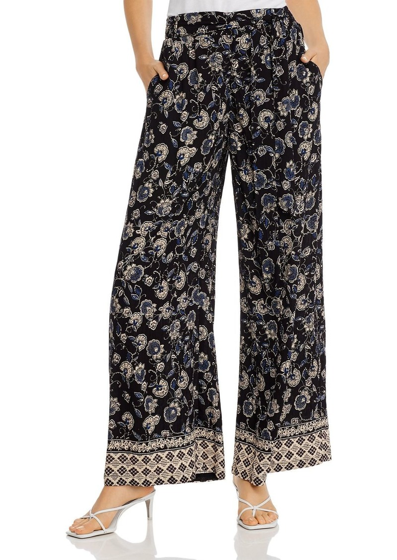 AQUA Printed Wide-Leg Pants - 100% Exclusive