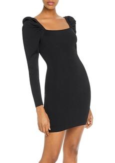 AQUA Puff-Sleeve Body-Con Dress - 100% Exclusive