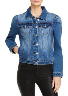 AQUA Puff Sleeve Denim Jacket - 100% Exclusive
