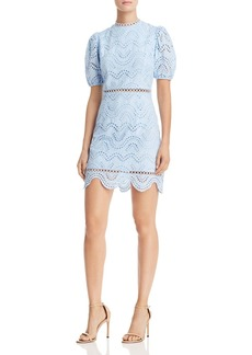 AQUA Puff-Sleeve Eyelet Dress - 100% Exclusive