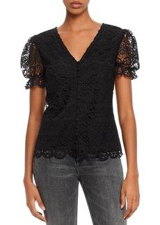 AQUA Puff-Sleeve Lace Top - 100% Exclusive