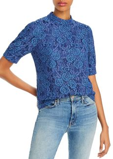 AQUA Puff-Sleeve Lace Top - 100% Exclusive
