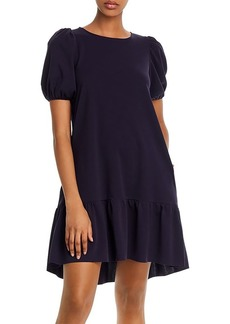 AQUA Puff-Sleeve Mini Dress - 100% Exclusive