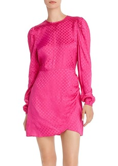 AQUA Puff-Sleeve Polka Dot Dress - 100% Exclusive