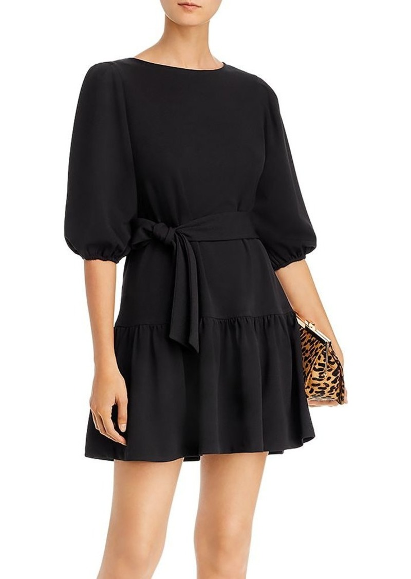 AQUA Puff-Sleeve Tie-Waist Dress - 100% Exclusive