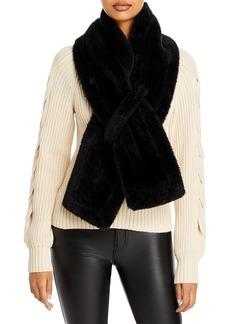 AQUA Pull Thru Faux Fur Scarf - 100% Exclusive