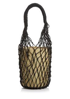 AQUA Rai Small Net Bucket Bag - 100% Exclusive