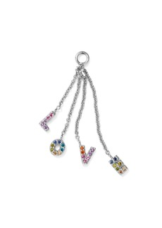 AQUA Rainbow Love Charm in Sterling Silver or Yellow Gold-Plated Sterling Silver - 100% Exclusive