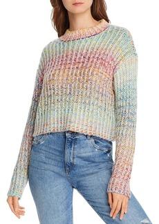 AQUA Rainbow Marled Cropped Sweater - 100% Exclusive