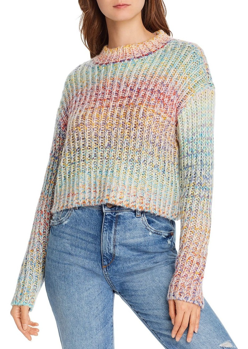 AQUA Rainbow Marled Cropped Sweater - 100% Exclusive