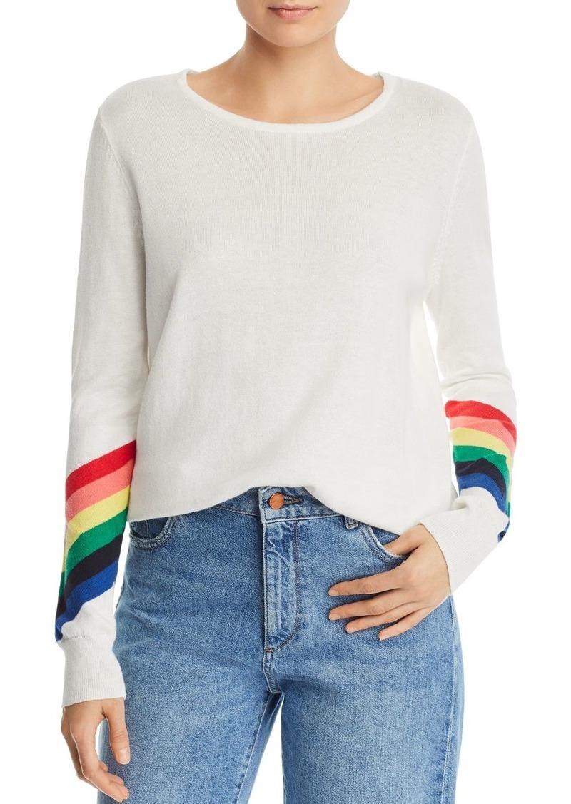 AQUA Rainbow-Sleeve Sweater - 100% Exclusive