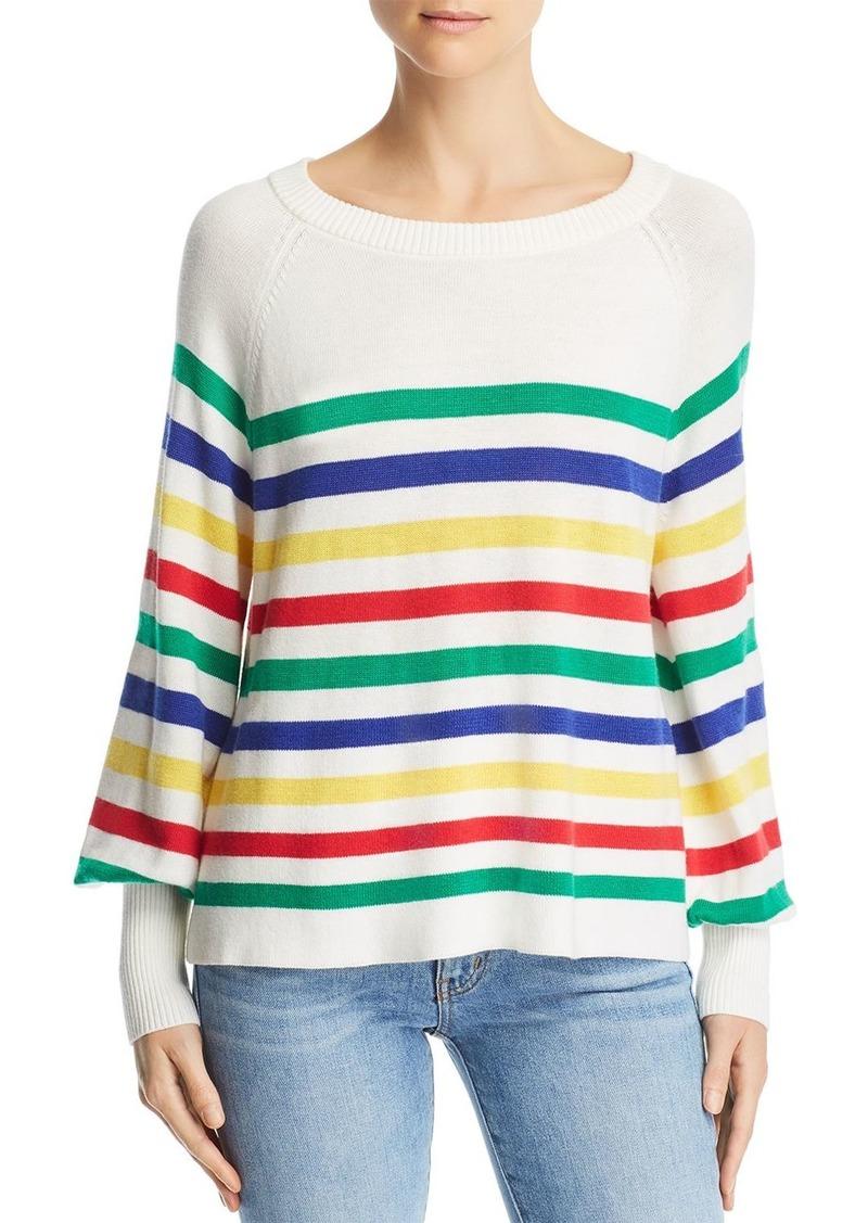 AQUA Rainbow-Stripe A-Line Sweater - 100% Exclusive