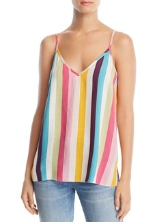 AQUA Rainbow-Stripe Cami