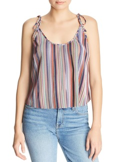 AQUA Rainbow-Stripe Pliss� Top - 100% Exclusive