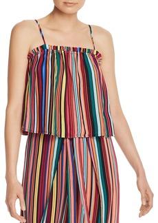 AQUA Rainbow-Stripe Top - 100% Exclusive