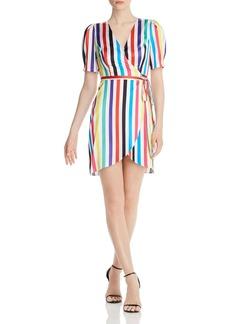 AQUA Rainbow-Stripe Wrap Dress - 100% Exclusive