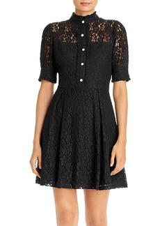 AQUA Rhinestone-Button Lace Dress - 100% Exclusive
