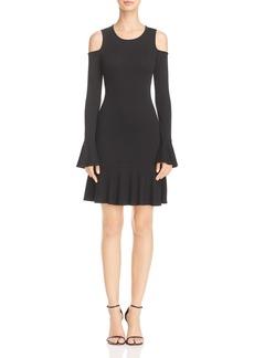 AQUA Rib-Knit Cold-Shoulder Dress - 100% Exclusive