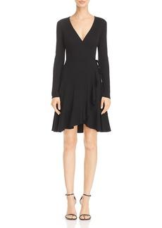 AQUA Rib-Knit Faux Wrap Dress - 100% Exclusive