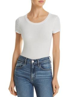 AQUA Rib-Knit Short-Sleeve Bodysuit - 100% Exclusive