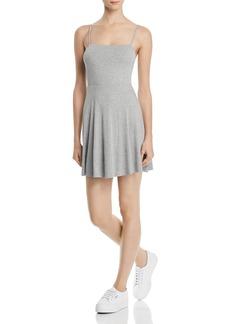 AQUA Ribbed Fit-and-Flare Cami Dress - 100% Exclusive