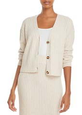 AQUA Ribbed Knit Cardigan - 100% Exclusive