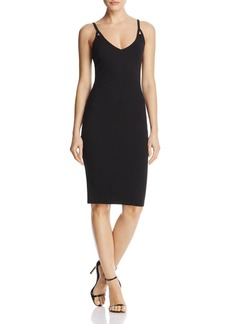 AQUA Ribbed Sheath Dress - 100% Exclusive